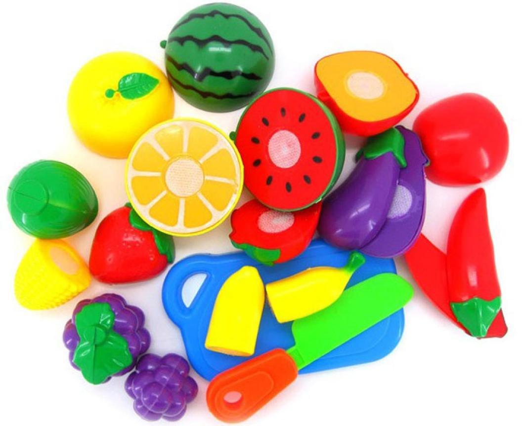 Meily Cortar Frutas Verduras Juego de imaginación Los niños juguetes educativos Kid
