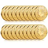 Batterymart 20Pack-Donald Trump Gold Coin 2018 24kt Gold Plated 45th President The United States Original Design
