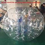 1.2/1.5m/1.8m Inflatable Bumper Bubble Soccer Ball Giant Human Hamster Ball (1.5m, PVC)