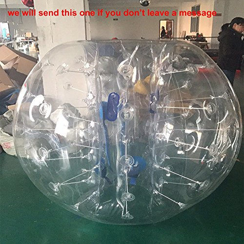 1.2/1.5m/1.8m Inflatable Bumper Bubble Soccer Ball Giant Human Hamster Ball (1.5m, PVC) by JYNselling
