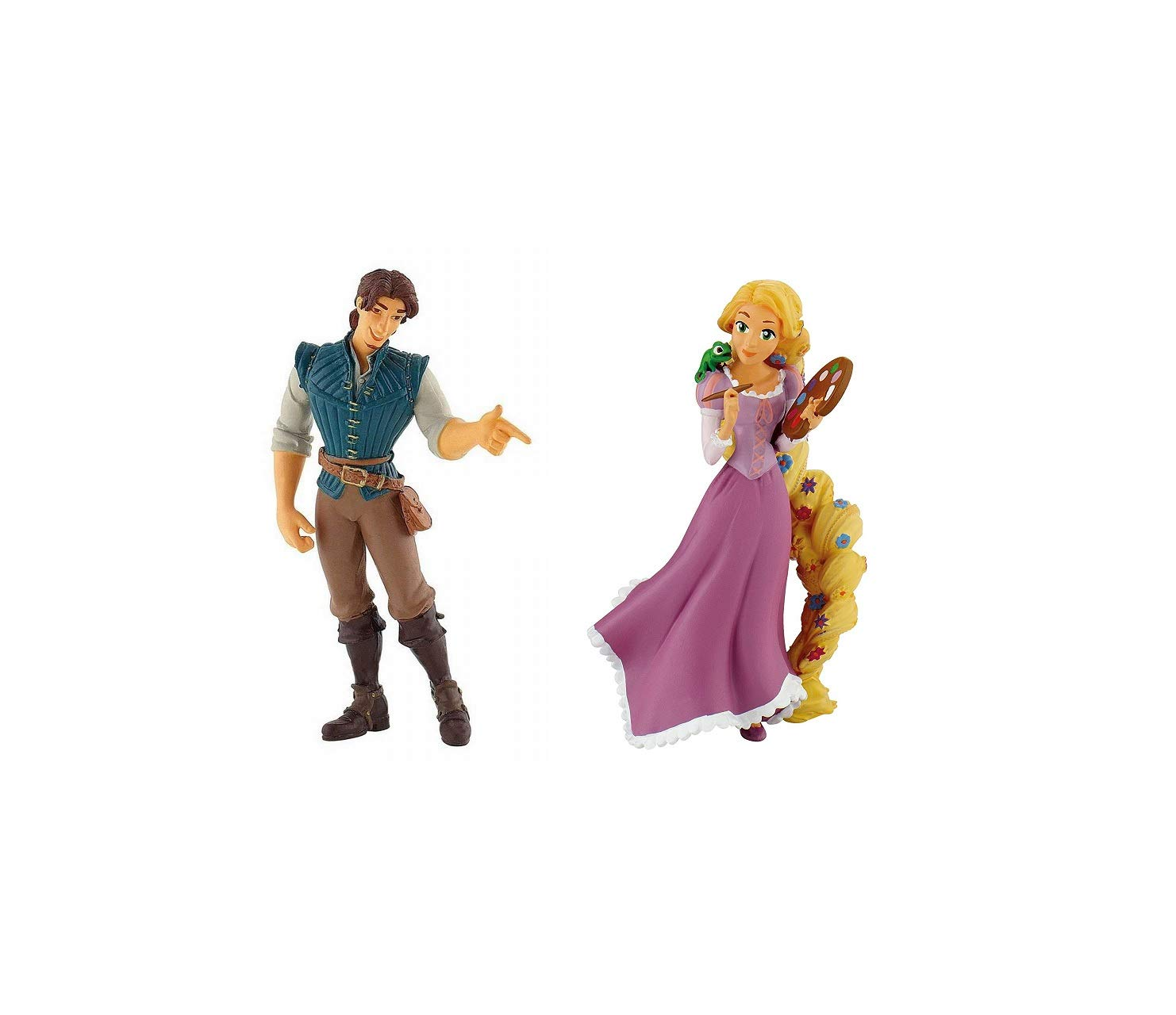 Disney Princess Rapunzel Painting and Flynn Rider Birthday Party Cake Toppers
