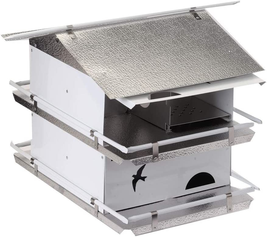 Birds Choice Waters Edge 2-Floor-4 Suites Purple Martin House with Starling Resistent Holes