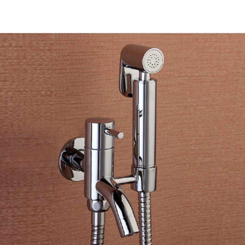 durable modeling All copper toilet angle valve gun suit/Vaginal washing/Bidet bidet/Tee faucet-D
