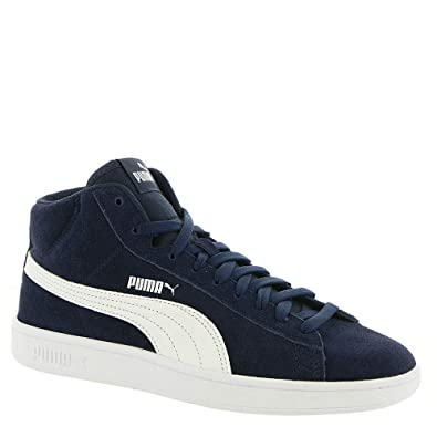 d241be9e69d PUMA Smash V2 Mid Jr Boys  Youth Sneaker 4.5 M US Big Kid Peacoat-