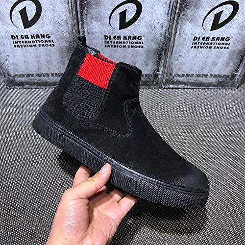 EAOJRSCSA Winter Gezeiten Männer Hohe Männer Schuhe Plus Samt Baumwolle Schuhe Flut Schuhe Stiefel Männer Stiefel
