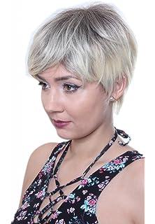 Prettyland C910 Short Hair Wig In Pink Black Straight Cut