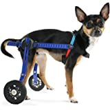 Dog Wheelchair: Extra Small For Mini/Toy Breeds up to 10 lbs