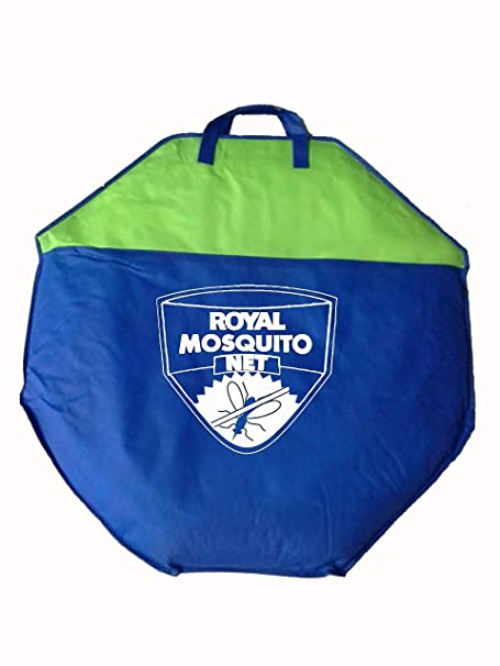 Royal Foldable Mosquito Net- Single Bed - Blue Border