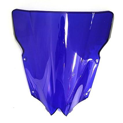 OyOCycle Windshield for Yamaha YZF R6 2008-2016 YZFR6 2009 2010 2011 2012 Double Bubble Windscreen Wind Deflector Wind Splitter