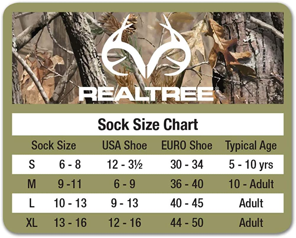 REALTREE Insect Adult Shield Crew Socks