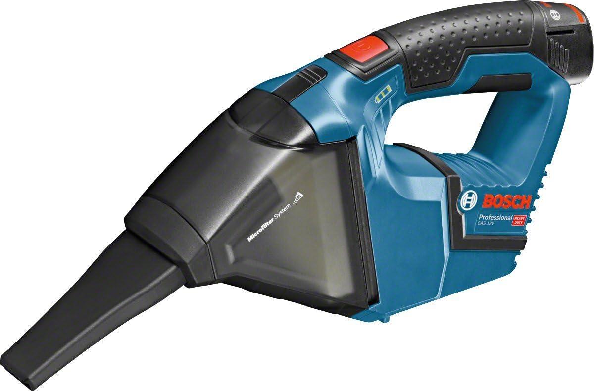 Bosch Professional GAS 12V - Aspirador a batería (2 baterías x 3.0 Ah, 12V, capacidad 0,35 l, 45 mbar, en L-BOXX): Amazon.es: Bricolaje y herramientas