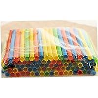asdfwe Plastic Drinkrietjes Individueel Verpakt Kleurrijke Rietjes 8 Inch Lang en Aiameter is 1/8 Inch voor Boba…