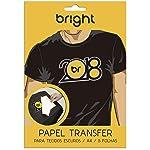 Papel Transfer, BRIGHT, 0020, Branco, pacote de 5