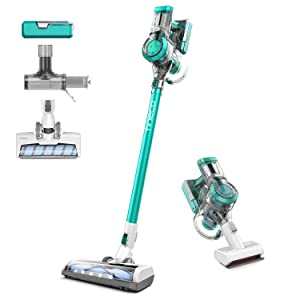 Tineco A11 Master Cordless Vacuum Cleaner, Handheld Stick Vacuum, 450W Rating Power Powerhouse Charging 2 LED Powered Brushes for Hardwood Floors Carpet Pet Hair Clean