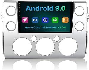 "Dasaita 9"" Android 9.0 Car Radio Wireless Carplay for Toyota FJ Cruiser 2007 2008 2009 2010 2011 2012-2016 Bluetooth 5.0 Audio Stereo Head Unit GPS Navigation Multimedia Player Hexa Core 4G 64G"