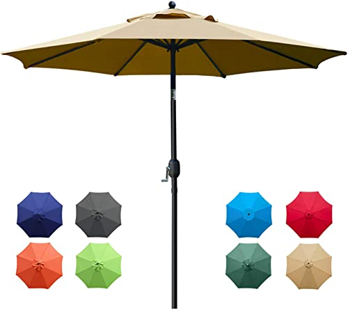 Sunnyglade 9Ft Patio Umbrella Outdoor Table Umbrella