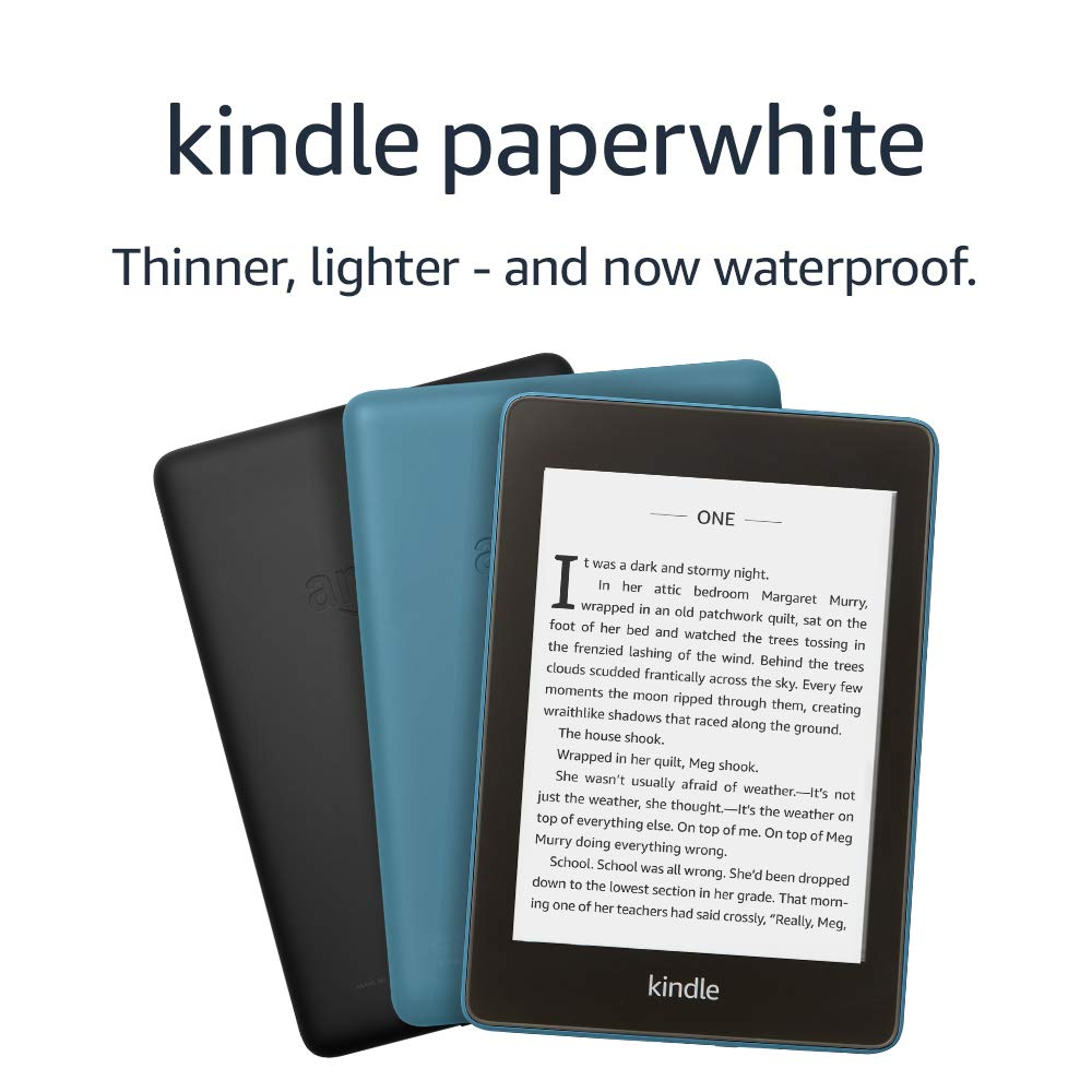 Kindle Paperwhite  8 GB Waterproof Includes Special Offers  Black