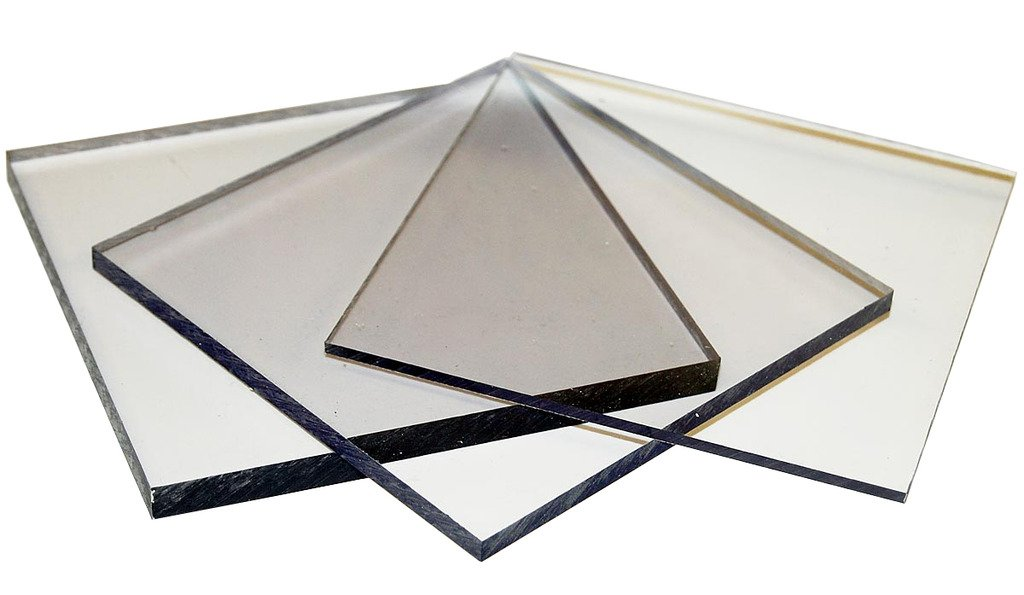 Polycarbonate Sheet - 24'' x 48'' - 10mm thickness - Good Glass Alternative used in POP Signs/Displays, Skylights, Pool Enclosures, Machine Guards - UV Stabilized, Low Flammability & Burglary-Resistant