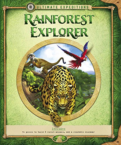 (Ultimate Expeditions Rainforest Explorer: Includes 51 pieces to build 8 forest animals, and a removable diorama!)