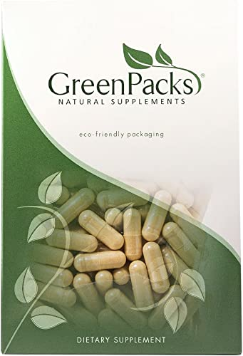 GreenPacks Ginkgo Biloba Extract High-Potency Supplement – 90 Capsules