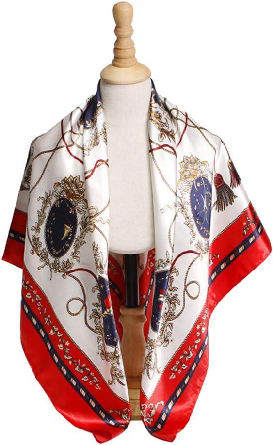 Bllomsem Sciarpa di seta da donna Sciarpe a maniche lunghe con stampa floreale Sciarpa Donna