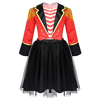 MSemis Toddler Girls Boys Ringmaster Circus Costume Sequins Gentleman Texudo Tailcoat for Halloween Show: Clothing