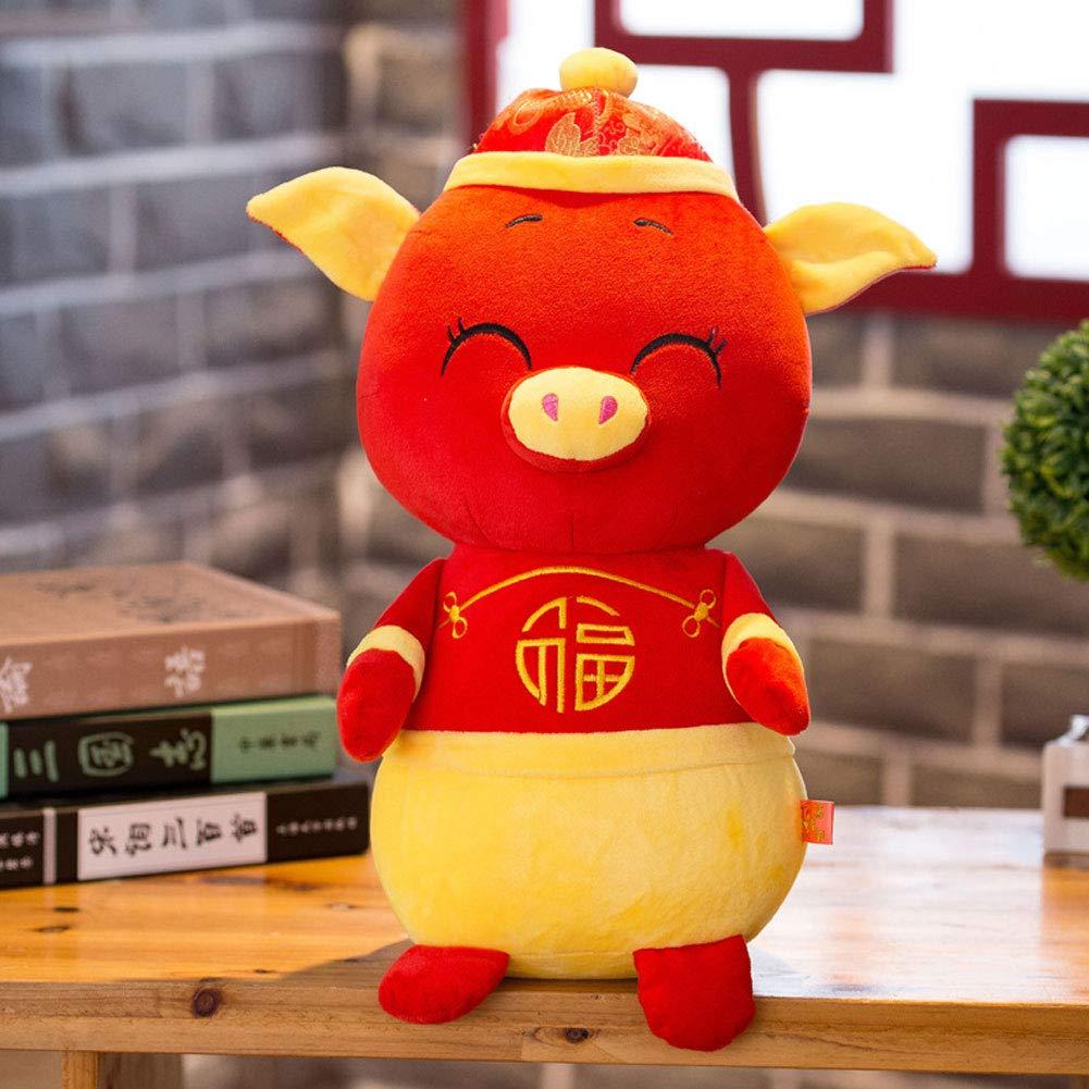 xMxDESiZ 2019/Nouvel an Kawaii Mascot Pig Tang Suit Robe Fortune Jouet f/ête D/écor Cadeau