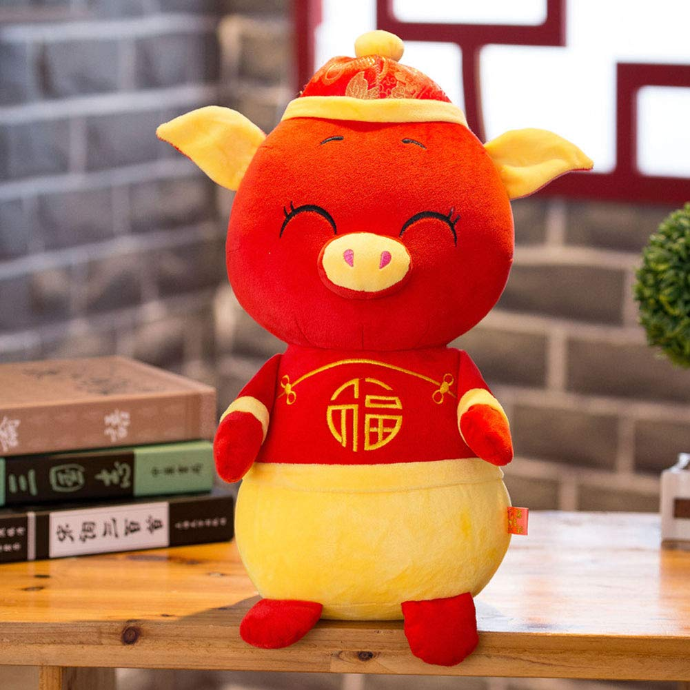 Aland-2019 New Year Kawaii Mascot Pig Tang Suit Dress Fortune Toy Party Decor Gift - 30cm by Aland (Image #3)