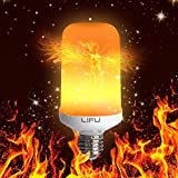 Flame Bulb, LIFU E26/ E27 LED Flame Effect Fire Light Bulbs for Decoration Lighting on Christmas Halloween Holiday Party