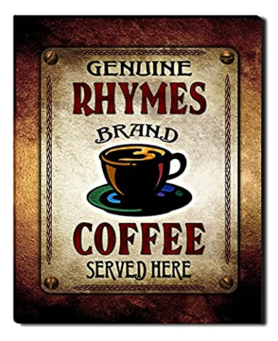 Rhymes's Coffee Gallery Wrapped Canvas Print (Cvs Rhymes)
