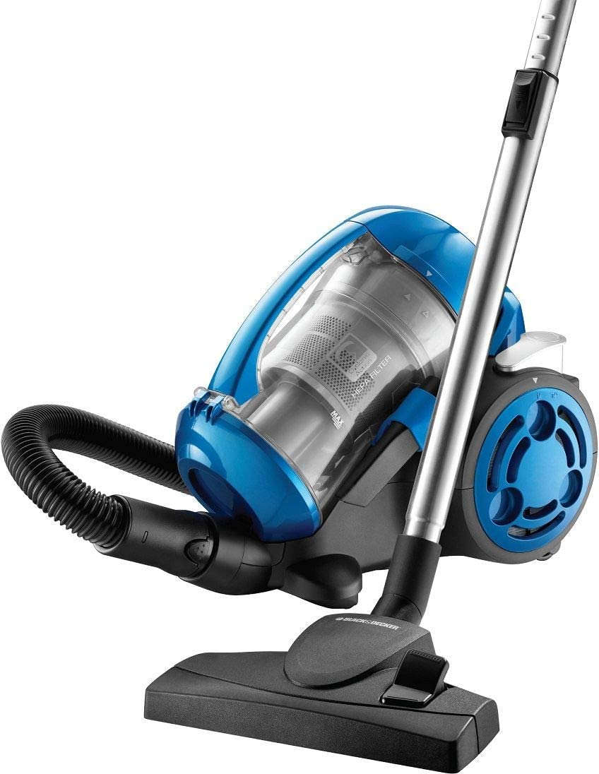 Black & Decker 2000W Bagless Multi-Cyclonic 6-Filter Vacuum Cleaner, Vm2825-B5, Blue