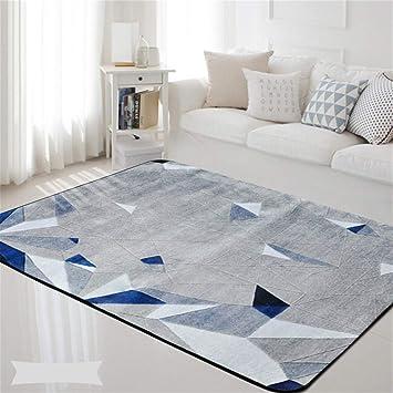 Amazon.de: Geometrische Nordic Blau Grau Gedruckt Rechteck ...
