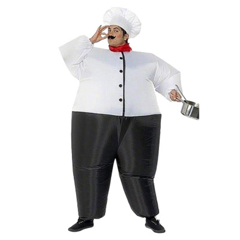 ef95f235f LOVEPET Gran Cocinero Gordo Inflado Disfraces De Navidad Navidad Navidad De  Halloween Cosplay De Adultos del Partido del Partido del Evento Props Traje  De ...
