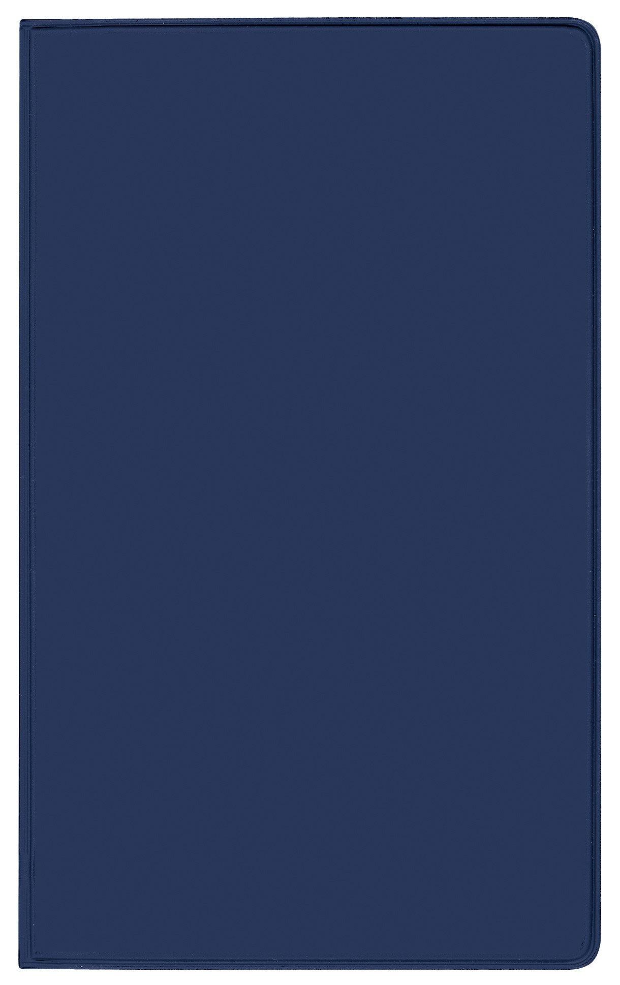 Taschenkalender Pluto geheftet PVC blau 2019: Terminplaner mit Monatskalendarium und Uhrzeit. Dünner Buchkalender - wiederverwendbar. 1 Monat 2 Seiten. 8,7 x 15,3 cm