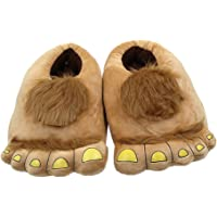 Anself Plush Cotton Slippers Winter Warm Big Cartoon Feet Soft Thermal Shoes 11.4in