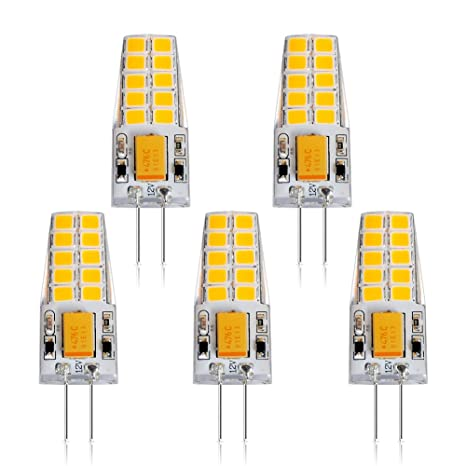 Eslas G4 Bombillas LED, 2700K Blanco Cálido, AC/DC 12V, No Regulable