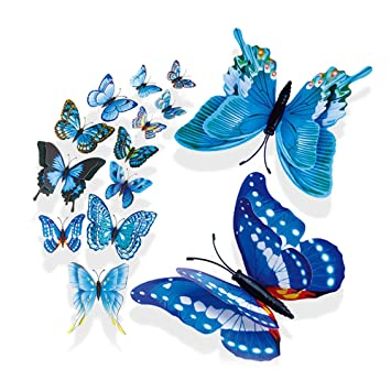 Amazon Tuscom 40 DoubleLayer Butterfly Suits Home Decor Extraordinary Butterfly Home Decor Accessories