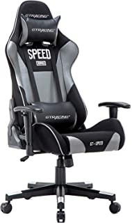 GTRACING Gaming Chair Ergonomic Racing Chair Backrest and Seat Height Adjustable with Pillows Recliner Swivel Rocker