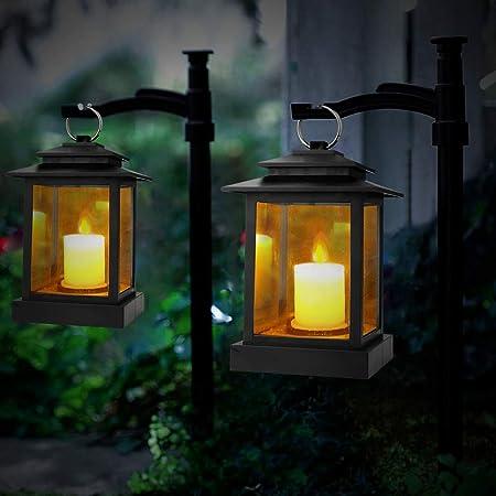 LED Velas Luces de té Luz de Vela de jardín Lámpara de Mesa Retro Luz de té sin Llama Luz de Vela electrónica: Amazon.es: Hogar