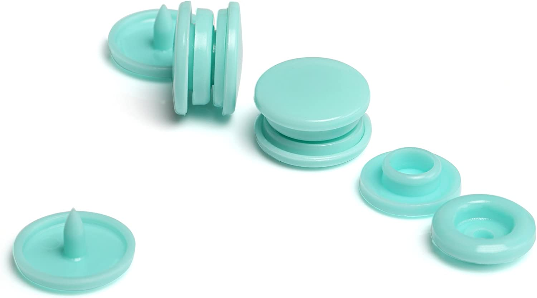 Farbe 1 LIHAO T5 Druckkn/öpfe N/ähfrei Snaps 50 Set Buttons f/ür DIY Basteln