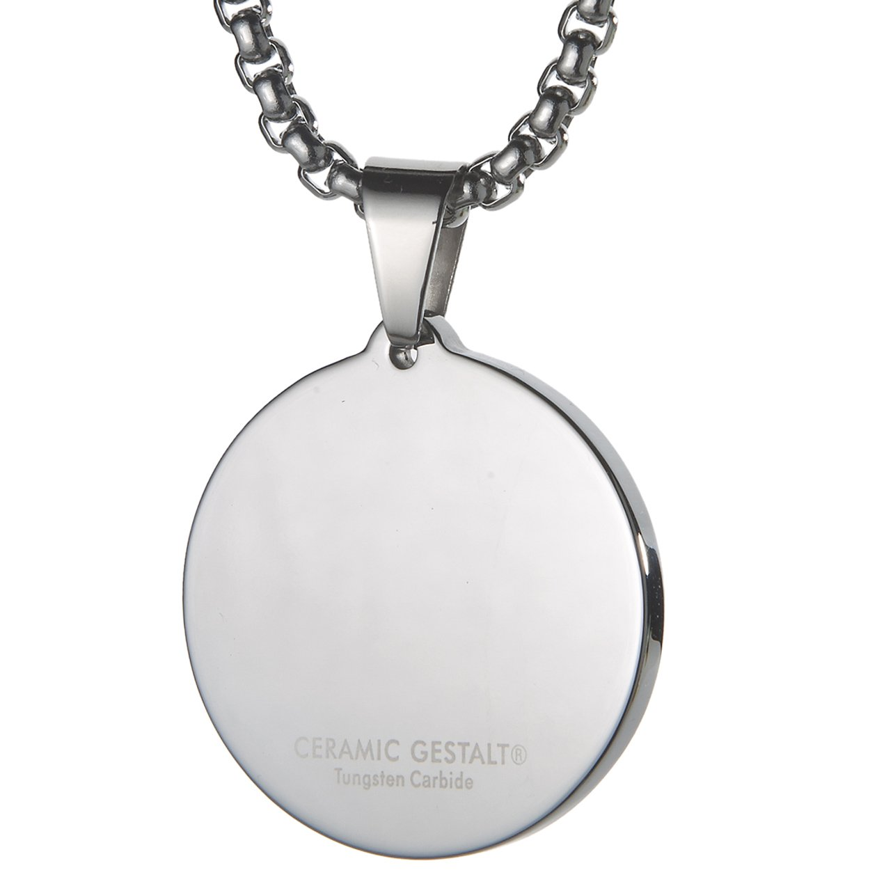 gray tw diamond tungsten designers chain with pvd dog and carbide inch pendant tag triton fancybox accents