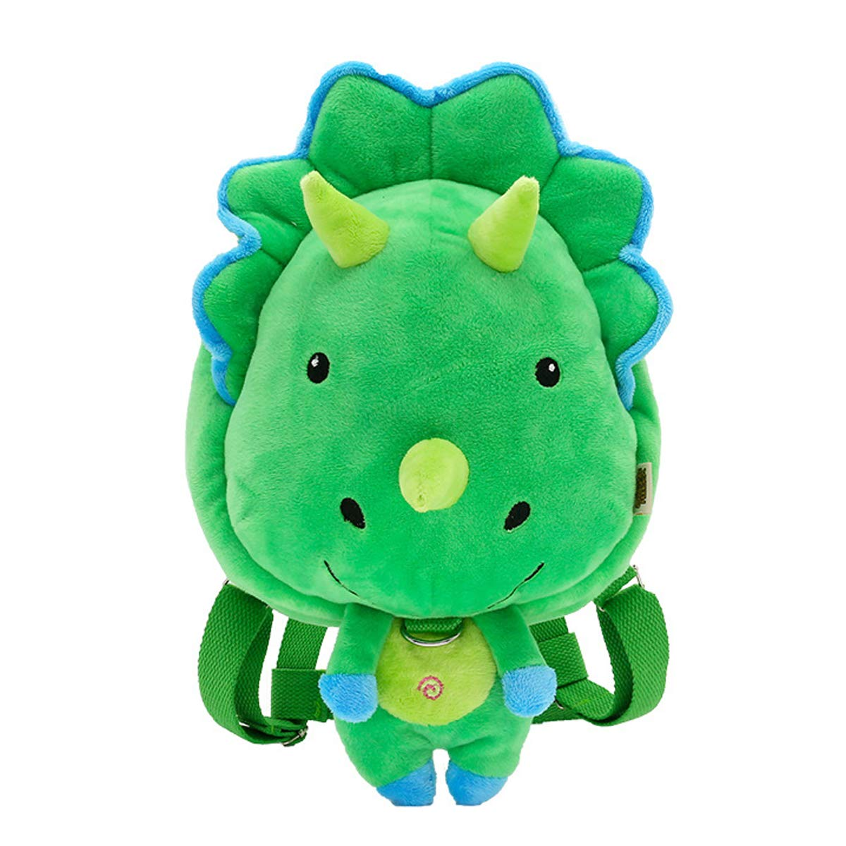 Kanodan ぬいぐるみ 幼稚園 キッズ 恐竜 バックパック アニマル アニメ ミニ スクールバッグ 1-5歳 S グリーン 180152  Triceratop B07GDFL8P2