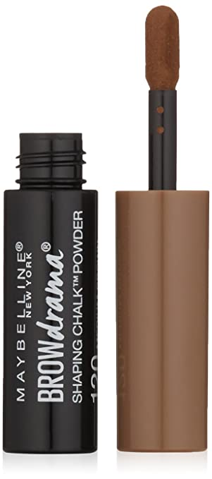 12200ee39a0 Amazon.com : Maybelline New York Brow Drama Shaping Chalk Powder, Medium  Brown, 0.035 fl. oz. : Beauty