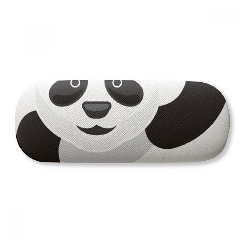 Chinese Panda Bamboo Traditional Art Pattern Glasses Case Eyeglasses Clam Shell Holder Storage Box