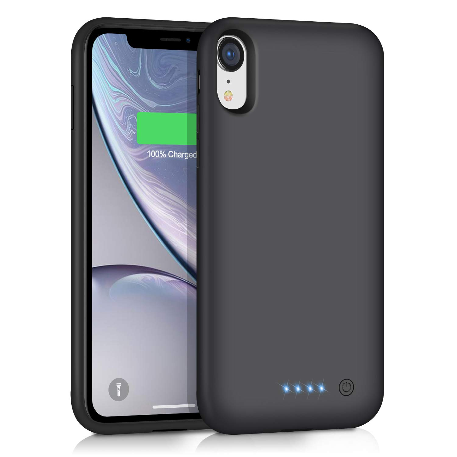 Ekrist Battery Case for iPhone XR, Upgraded [6800mAh] Portable Protective Charging Case Rechargeable Extended Battery Pack Power Bank Charger Case Compatible with Apple iPhone XR (Black) by Ekrist