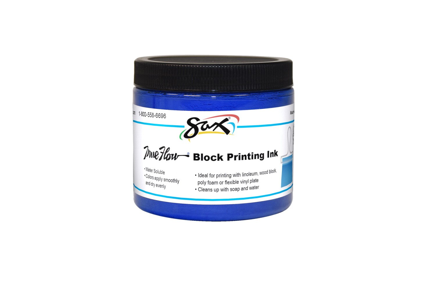 Sax True Flow Water Soluble Block Printing Ink - 16 Ounces - Blue
