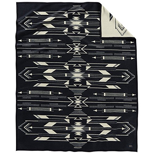 Pendleton Tsi Mayoh Wool Blanket, Black/white, Twin