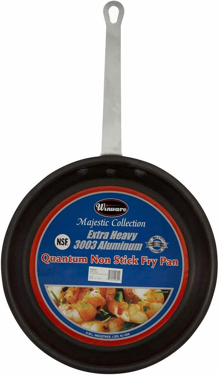 """Winco COMINHKR007064 Majestic 14.38"""" Non-Stick Frying Pan, 14 Inch, Black"""