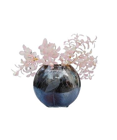 d1068dc166c Buy Deco dreamz Antique Glass Flower Vase (Grey