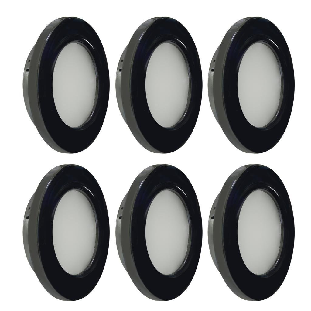 Dream Lighting RV LED Recessed Down Light 2W Warm White Black Shell Pack of 6 Jerrylight Pty Ltd
